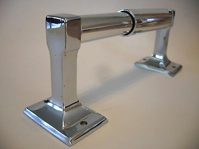 Vintage Chrome Toilet Paper Tissue Holder New Chrome Plastic Roller