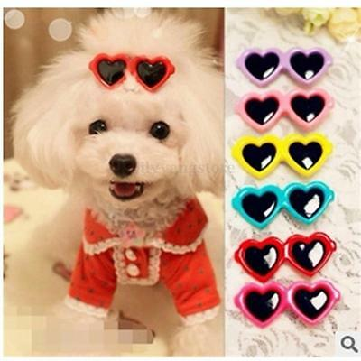 Lovely Sunglasses Pet Dog Cat Puppy Grooming Bow Hairpin Hair Clip Accessories
