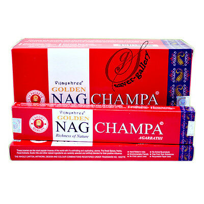 Golden Nag Champa 15 Gram Pack - 3012