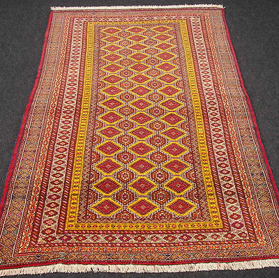 Orient Teppich Afghan Alt 189 x 117 cm Rot Torkman Old Red Carpet Tappeto Tapis