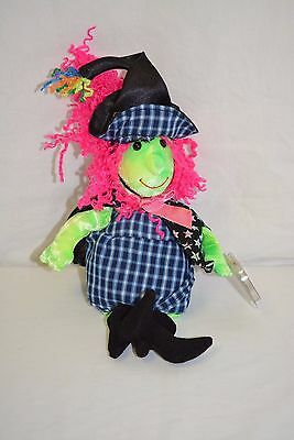 Ty Beanie Babies Collection Scary Witch Stuffed Animal Toy DOB Oct 25 2000