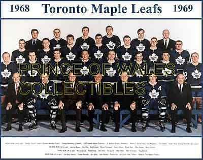1969 Toronto Maple Leafs Team Photo 8X10
