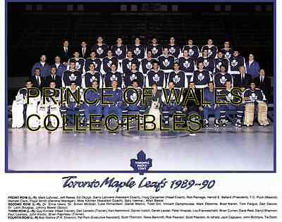 1990 Toronto Maple Leafs Team Photo 8X10