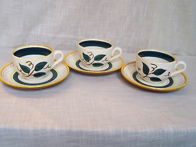 Stangl Pottery Fruit Cups Saucers Set of 3