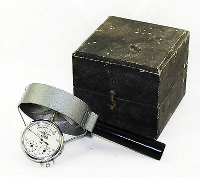 ANEMOMETER Russian Wind Indicator 1966 Vintage VGC USSR Works w/ wooden box MINT