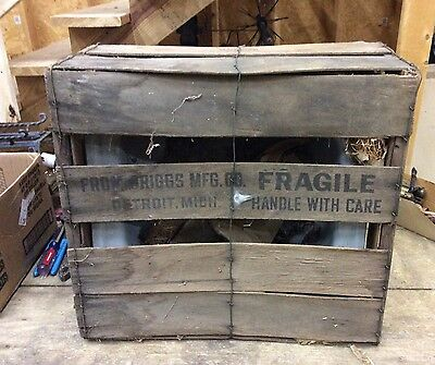 Vintage Nos Brigs Beautyware Sink-Still In Wood Crate!!!-Rare-10