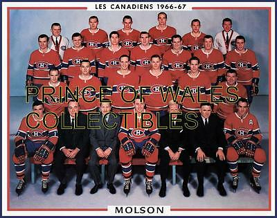 1967 Montreal Canadiens Team Photo 8X10