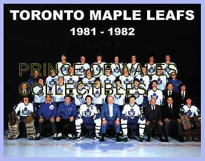 1982 Toronto Maple Leafs Team Photo 8X10