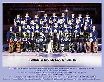 1986 Toronto Maple Leafs Team Photo 8X10