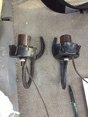 "1950's Pr 7 1/4"" Horseshoe Light Fixture Sconces"