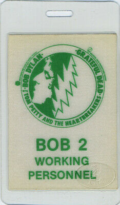 BOB DYLAN Grateful Dead Tom Petty 1986 Laminated Backstage Pass