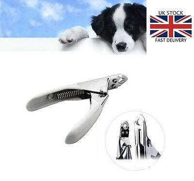 Stainless Steel Dog Cat Pet Nail Toe Claw Clippers Trimmers Scissors Cutter UK