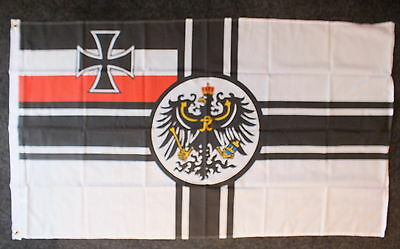 German 2nd Reich WW1 Kaiser Flag Military Iron Cross Deutschland Wehrmacht Kreuz