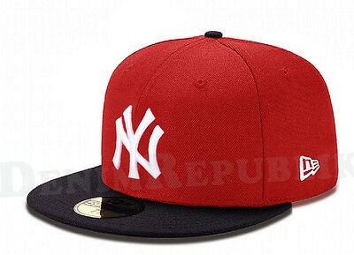online store a4477 a0fbe New Era 5950 NEW YORK YANKEES MLB Baseball Cap New Era Fitted Hat Red Navy  NY