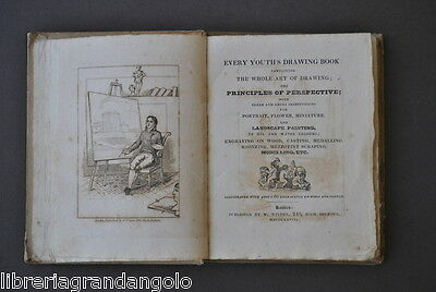 Every youth' s drawing book Landscape Painting Londra Wilton 1828