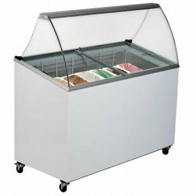 Brand New 7 Tub Ice Cream Gelato Curved Display Canopy Fridge Bromic GD0007S **