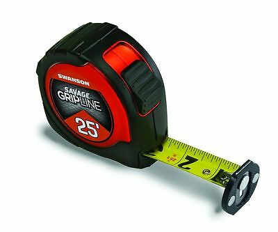 Swanson Tool SVGL25M1 25ft. Magnetic Savage Gripline Tape Measure