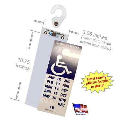 Sturdy Handicap Tag  Protector & Holder- Fits NC & NJ states Extra Long Placard