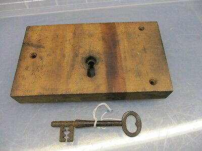 "Victorian Oak Lock Boldon Colliery ""Harton Coal Company"" Architectural Antique"