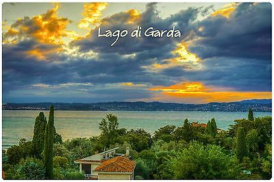 Refrigerator fridge magnet LAKE GARDA ITALY vinyl photo educational