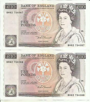Uk Great Britain 10 Pounds P 379. Xf Condition. One Note. 4Rw 08 Feb