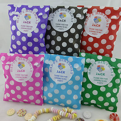 Personalised birthday sweet bags,polka dot candy cart,paper sweet bag party bags