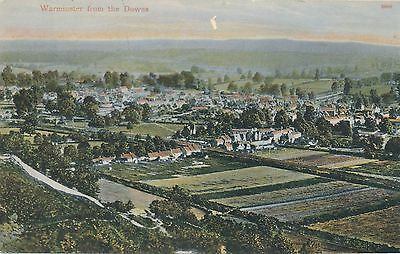 POSTCARD  WILTSHIRE  WARMINSTER  from The Downs