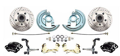 Wilwood Black Calipers / Disc Brake Conversion Kit for 1964-1972 GM A, F, X Body