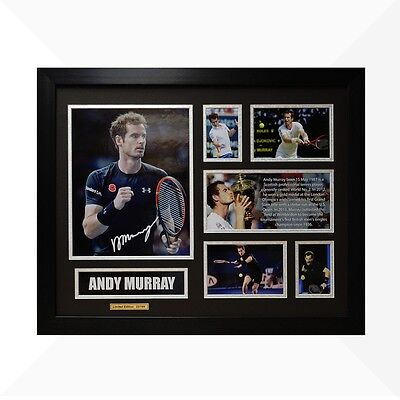 Andy Murray Signed & Framed Memorabilia - Black/Silver Limited Edition - Tennis
