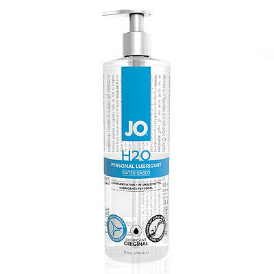 System JO H2O Silky-Smooth Long Lasting Waterbased Lubricant 480ml HE25388