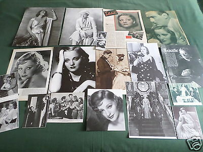 Tallulah Bankhead - Film Star - Vintage  Clippings /cuttings Pack