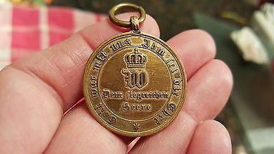 GERMAN Reich Medal 1870-1871 PRUSSIAN FRANCO WAR for Combatant/made from Cannon