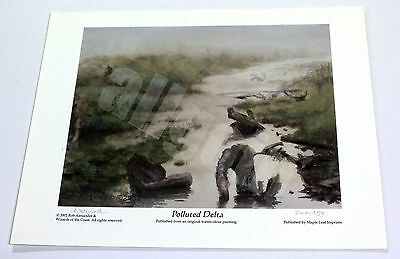Rob Alexander POLLUTED DELTA 2002 OFFICIAL SIGNED PRINT WOTC ONSLAUGHT RARE MTG