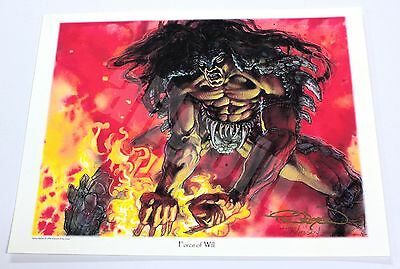 Terese Nielsen FORCE OF WILL 1996 OFFICIAL SIGNED PRINT WOTC ALLIANCES RARE MTG