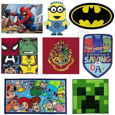 Boys Bedroom Character Rugs Star Wars, Minions, Batman + More 100% Official