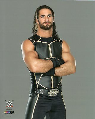 "SETH ROLLINS WWE PHOTO WRESTLING 8x10"" OFFICIAL PROMO THE SHIELD"