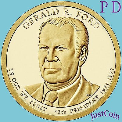 2016 P&d Set Gerald Ford #38 Presidential Dollars From Mint Rolls Uncirculated