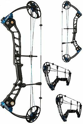 """Kinetic Rave Dual Cam Compound Bow (Balck/blue) RH 20-55lb weight, 19-30"""" draw"""