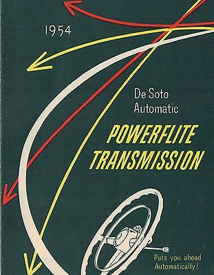 1954 DeSoto Automatic POWERFLITE TRANSMISSION Brochure: FIREDOME,POWERMASTER