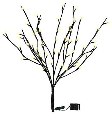 """19 3/4""""  Lighted Black Glitter Twigs, 60 Clear Lights, Electric"""