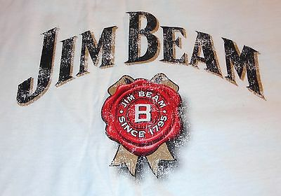 Jim Beam Men's T Shirt - White - Logo on the front - Extra Large...NEW