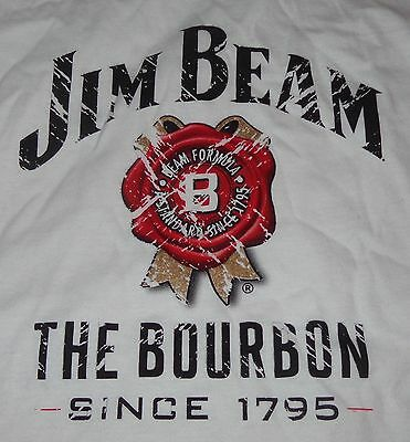 Jim Beam Bourbon... Ladies promo Shirt...Ladies Small...White - Worn Look...NEW