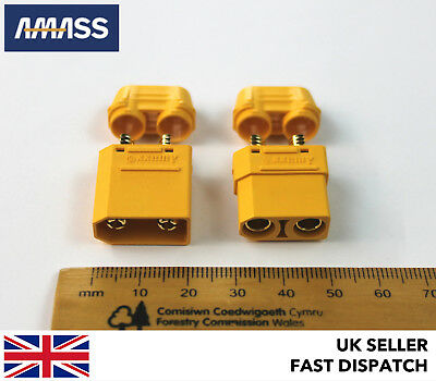 *GENUINE AMASS XT90 & INSULATED CAPS*  Male & Female Connectors/Plugs 12v 24v RC