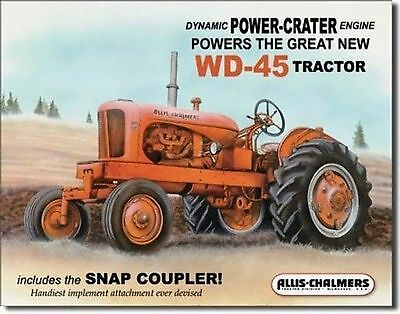 Allis Chalmers WD-45 12' x 16' metal sign #7LE
