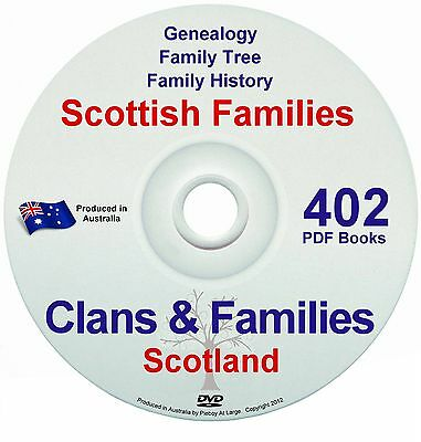 Family History Tree Genealogy Scotland Clans Old Historic Books Records New DVDs