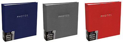 Large Padded Leatherette Memo Slip In Photo Album 200 6 x 4 Photos - 3 Colours