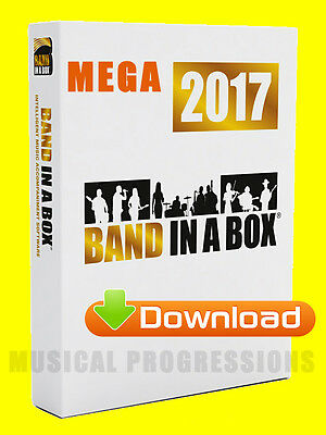 Band In A Box 2017 Megapak Download Win - Audio Music Software - Full Retail New