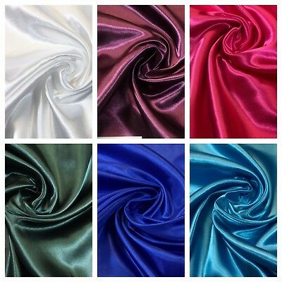Smooth Silky Satin dressmaking fabric 60 inches wide M89 Mtex