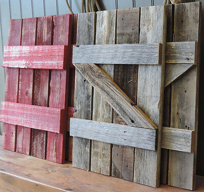Rustic Barn Wood Shutters For Our 37.5 x 21.75 Barn Wood Mirror (24 Colors)