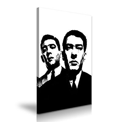 The Kray Twins London Gangsters Canvas Wall Art Picture Print 76x50cm